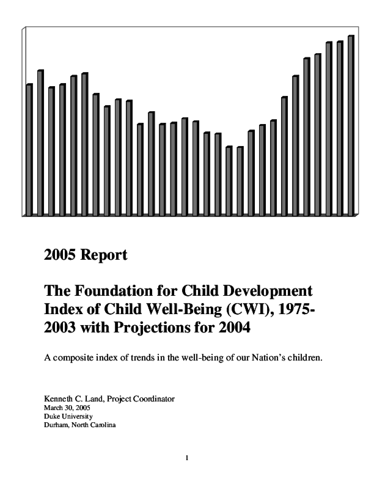 2005 Index of Child Well-Being