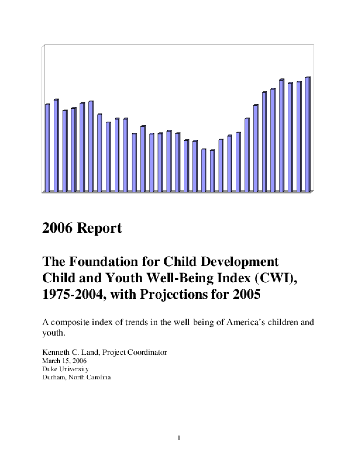 2006 Index of Child Well-Being