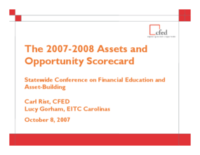 2007 - 2008 Assets and Opportunity Scorecard