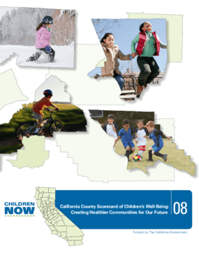 2008 California County Scorecard of Children's Well-Being: Creating Healthier Communities for Our Future
