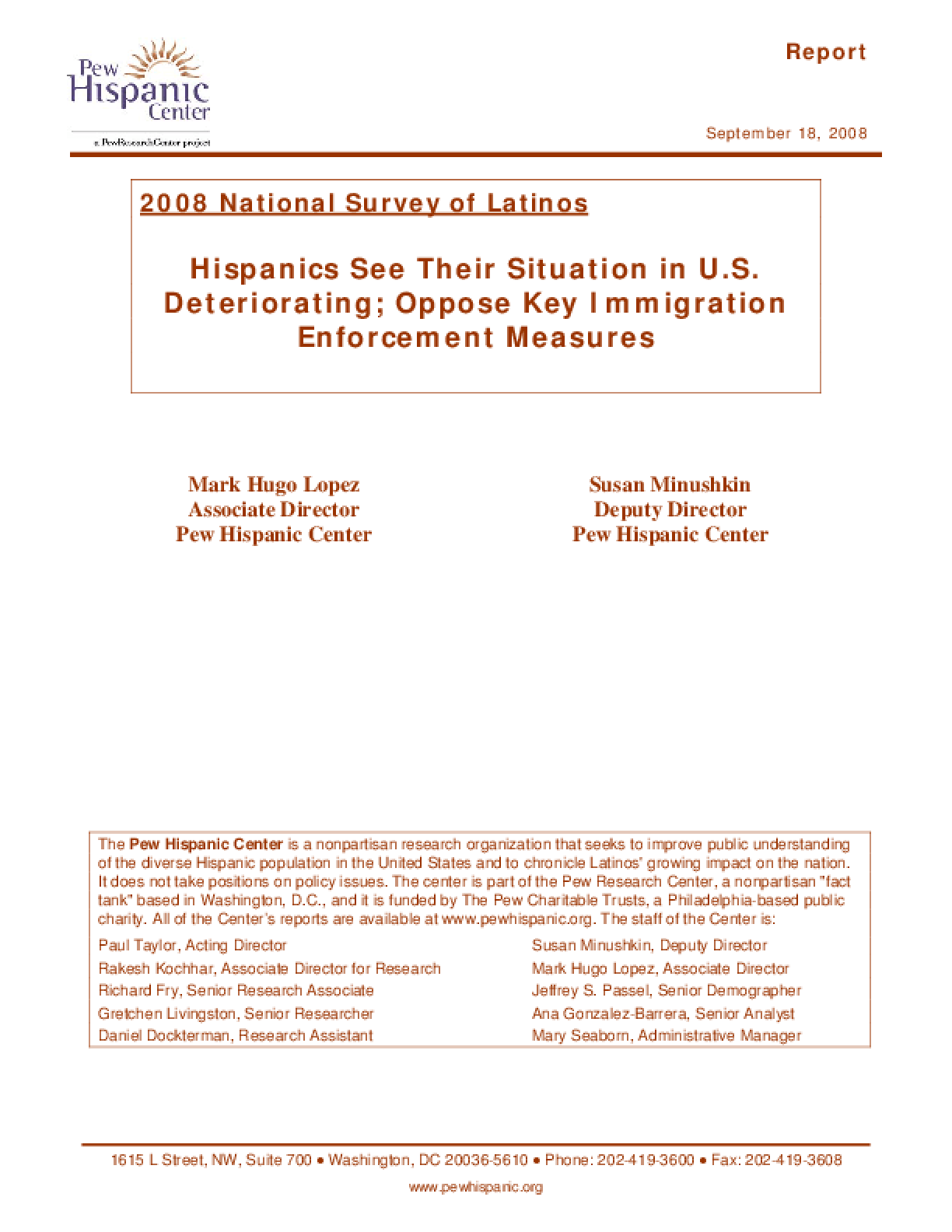 2008 National Survey of Latinos