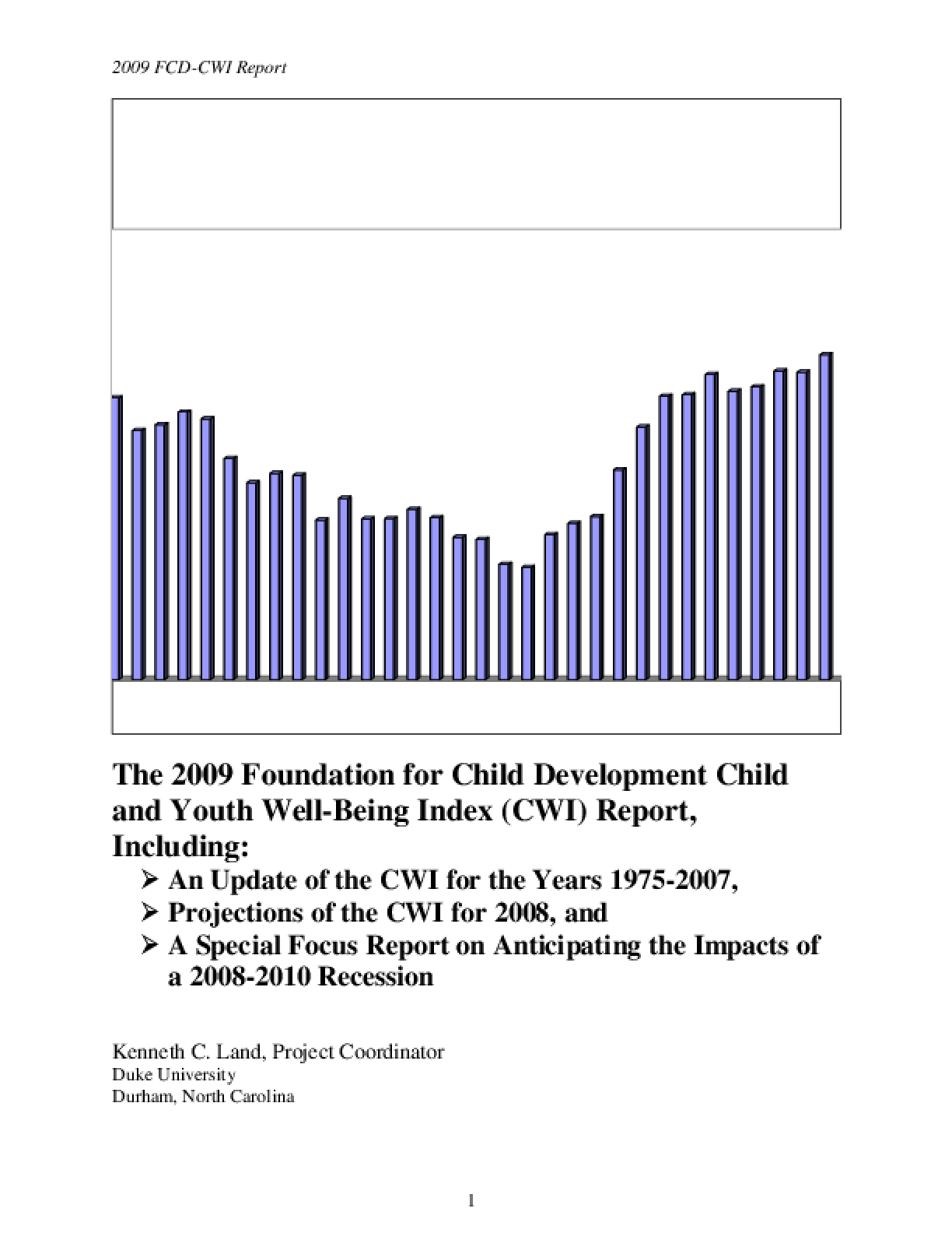 2009 Child and Youth Well-Being Index