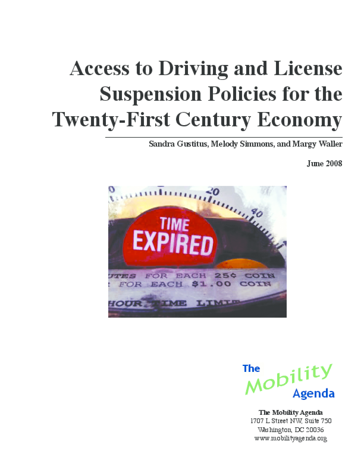 Access to Driving and License Suspension Policies for the Twenty-First Century Economy