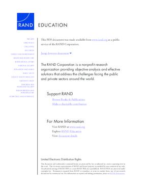 Achievement and Attainment in Chicago Charter Schools 2009
