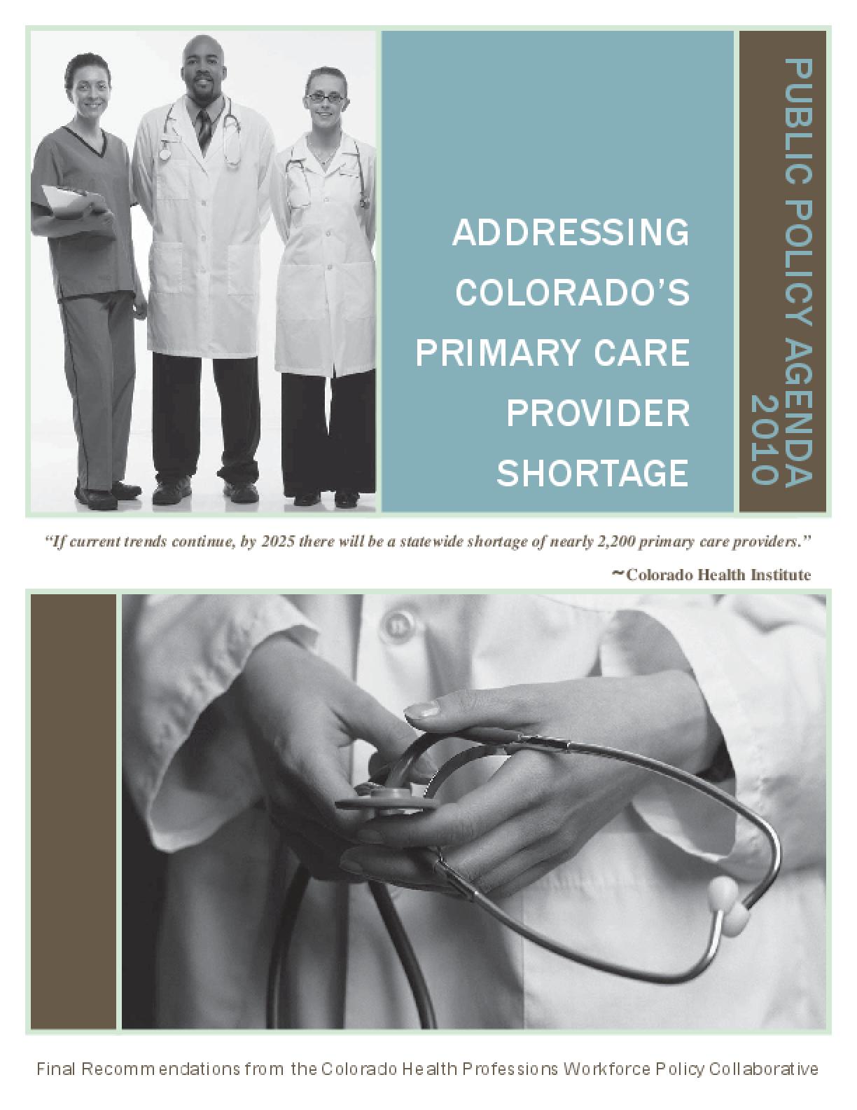 Addressing Colorado's Primary Care Provider Shortage