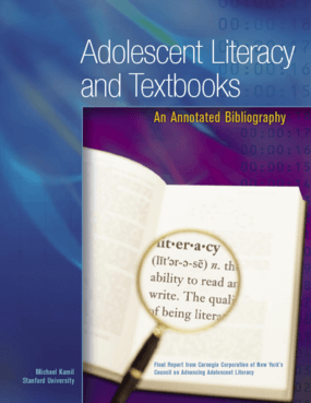 Adolescent Literacy and Textbooks: An Annotated Bibliography