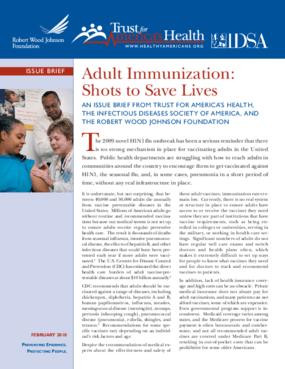 Adult Immunization: Shots to Save Lives