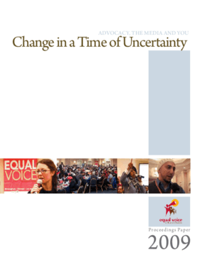 Advocacy, the Media and You: Change in a Time of Uncertainty