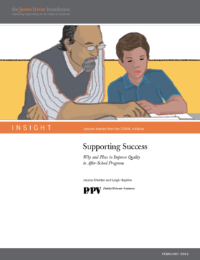 Supporting Success: Why and How to Improve Quality in After-School Programs