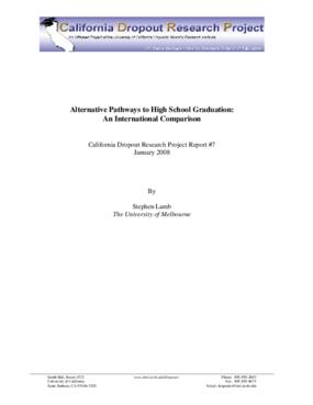 Alternative Pathways to High School Graduation: An International Comparison