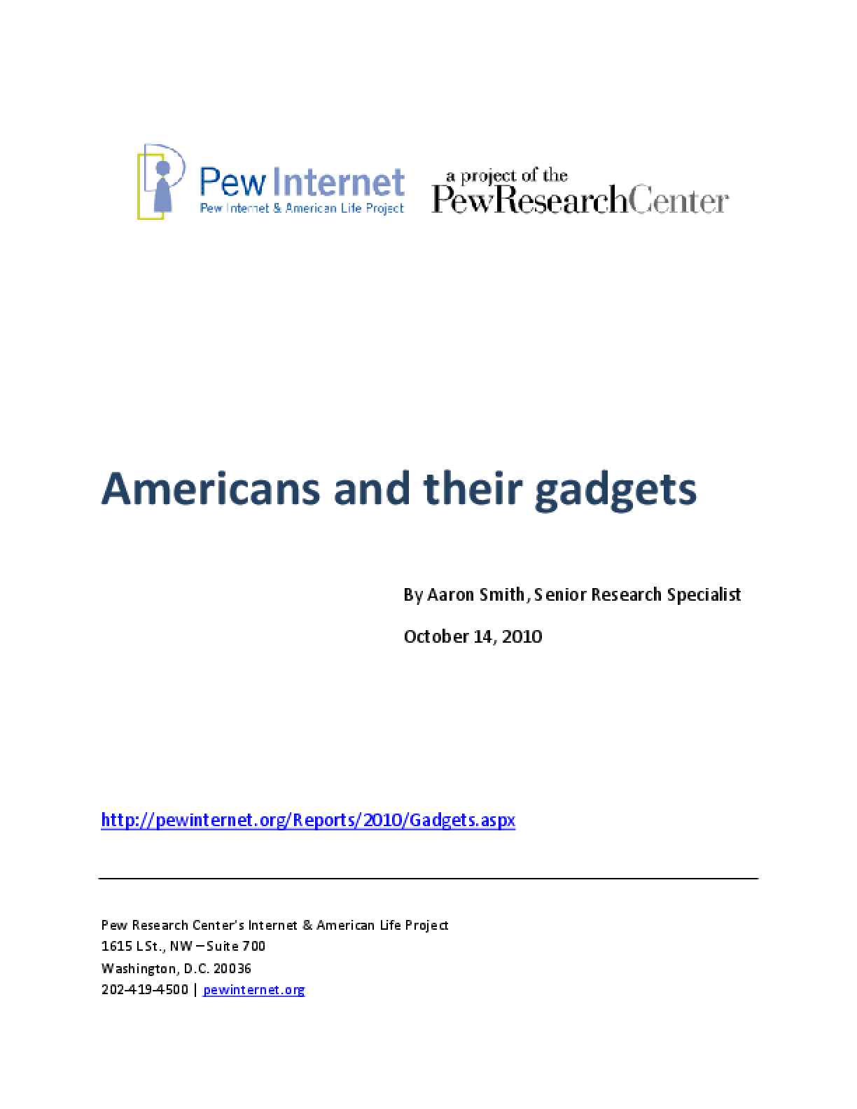 Americans and Their Gadgets