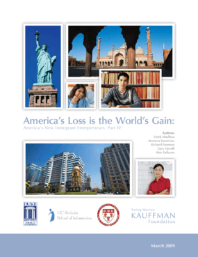 America's Loss Is the World's Gain: America's New Immigrant Entrepreneurs, Part IV