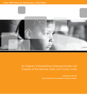 An Analysis of Racial/Ethnic Disproportionality and Disparity at the National, State, and County Levels