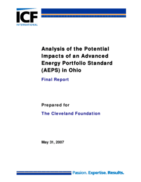 Analysis of the Potential Impacts of an Advanced Energy Portfolio Standard (AEPS) in Ohio