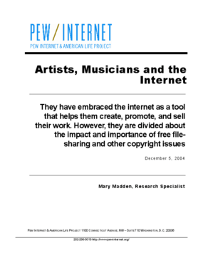 Artists, Musicians and the Internet
