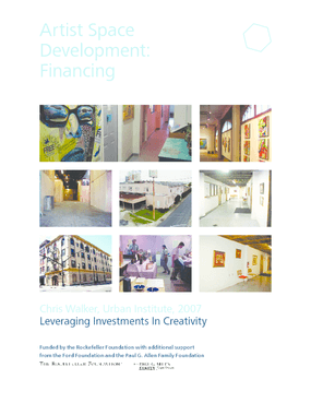 Artist Space Development: Financing