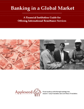 Banking in a Global Market: A Financial Institution Guide for Offering International Remittance Services