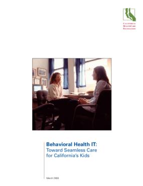 Behavioral Health IT: Toward Seamless Care for California's Kids
