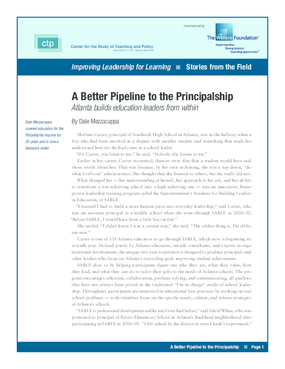 A Better Pipeline to the Principalship
