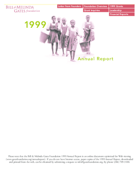 Bill & Melinda Gates Foundation - 1999 Annual Report