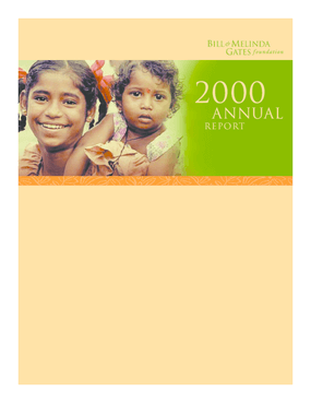 Bill & Melinda Gates Foundation - 2000 Annual Report