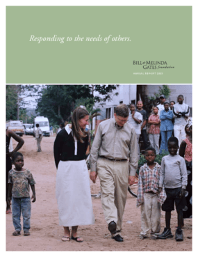 Bill & Melinda Gates Foundation - 2003 Annual Report: Responding to the Needs of Others