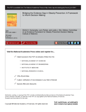 Bridging the Evidence Gap in Obesity Prevention: A Framework to Inform Decision Making
