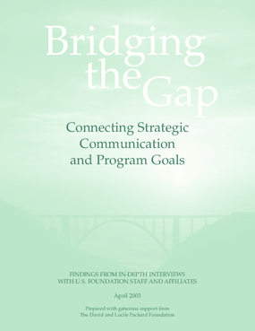 Bridging the Gap: Connecting Strategic Communication and Program Goals