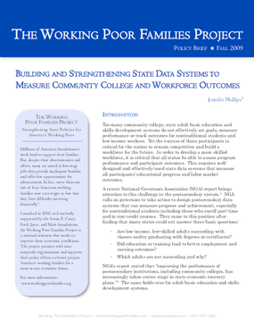 Building and Strengthening State Data Systems to Measure Community College and Workforce Outcomes