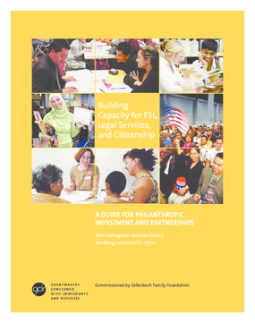 Building Capacity for ESL, Legal Services, and Citizenship