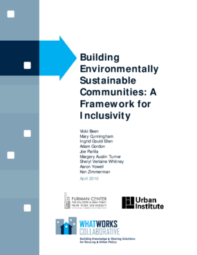Building Environmentally Sustainable Communities: A Framework for Inclusivity
