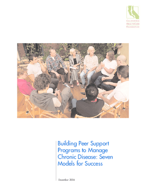 Building Peer Support Programs to Manage Chronic Disease: Seven Models for Success