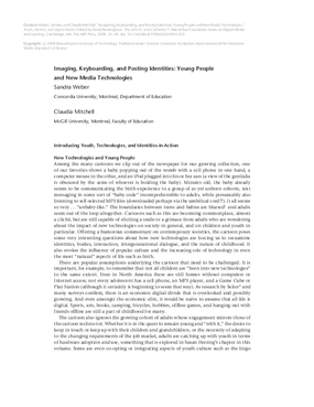 Imaging, Keyboarding, and Posting Identities: Young People and New Media Technologies