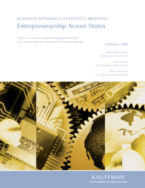 Business Dynamics Statistics Briefing: Entrepreneurship Across States