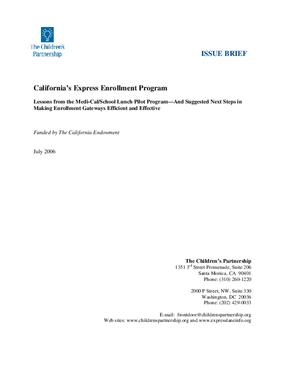 California's Express Enrollment Program