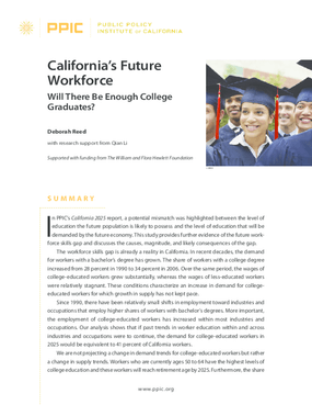California's Future Workforce: Will There Be Enough College Graduates?