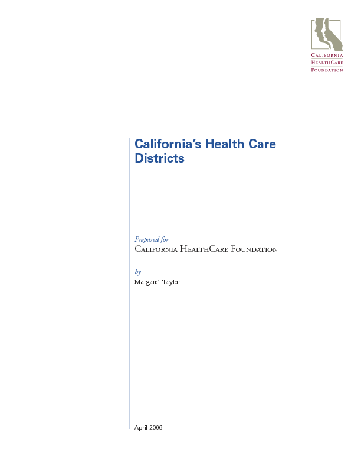 California's Health Care Districts