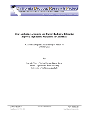 Can Combining Academic and Career-Technical Education Improve High School Outcomes in California?