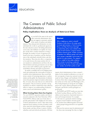 The Careers of Public School Administrators: Policy Implications From an Analysis of State-Level Data