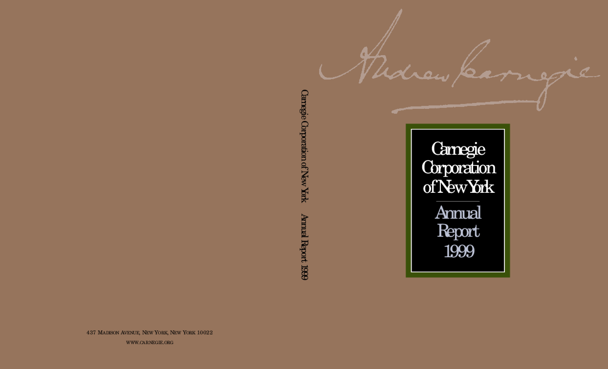 Carnegie Corporation of New York - 1999 Annual Report