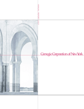 Carnegie Corporation of New York - 2001 Annual Report