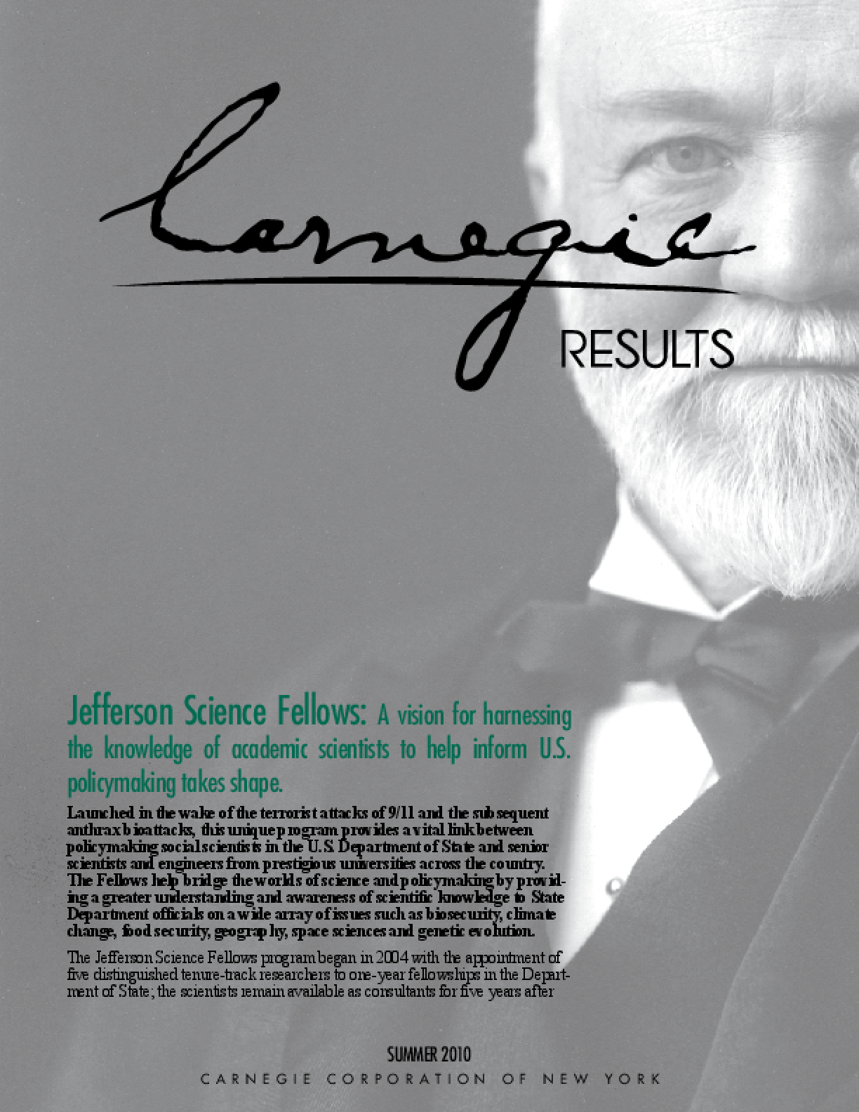 Carnegie Results: Jefferson Science Fellows