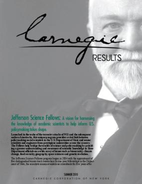 Carnegie Results: Jefferson Science Fellows