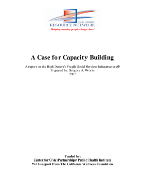 A Case for Capacity Building: A Report on the High Desert's Fragile Social Services Infrastructure
