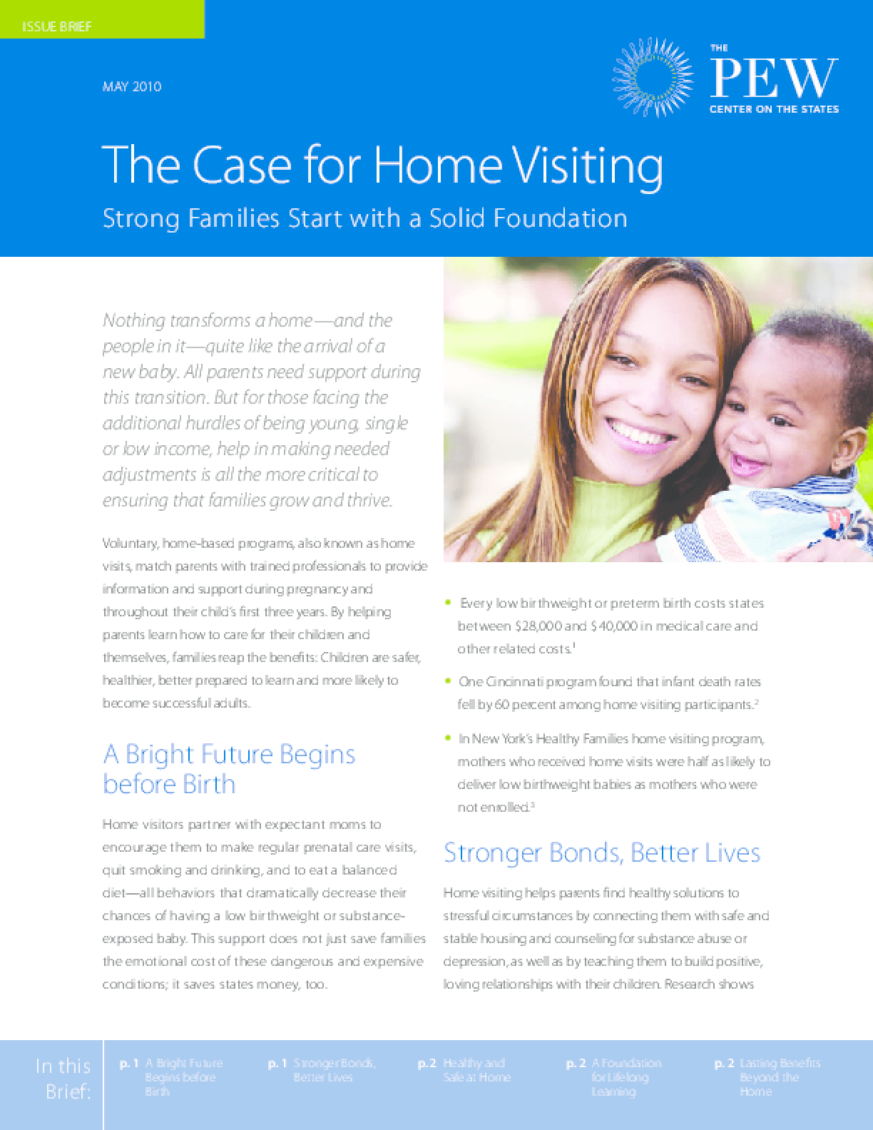 The Case for Home Visiting: Strong Families Start With a Solid Foundation