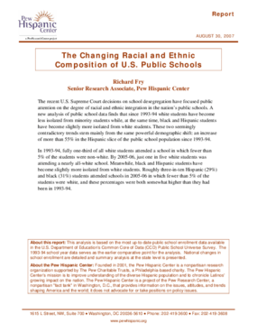 The Changing Racial and Ethnic Composition of U.S. Public Schools