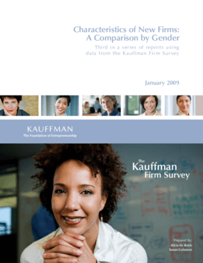 Characteristics of New Firms: A Comparison by Gender