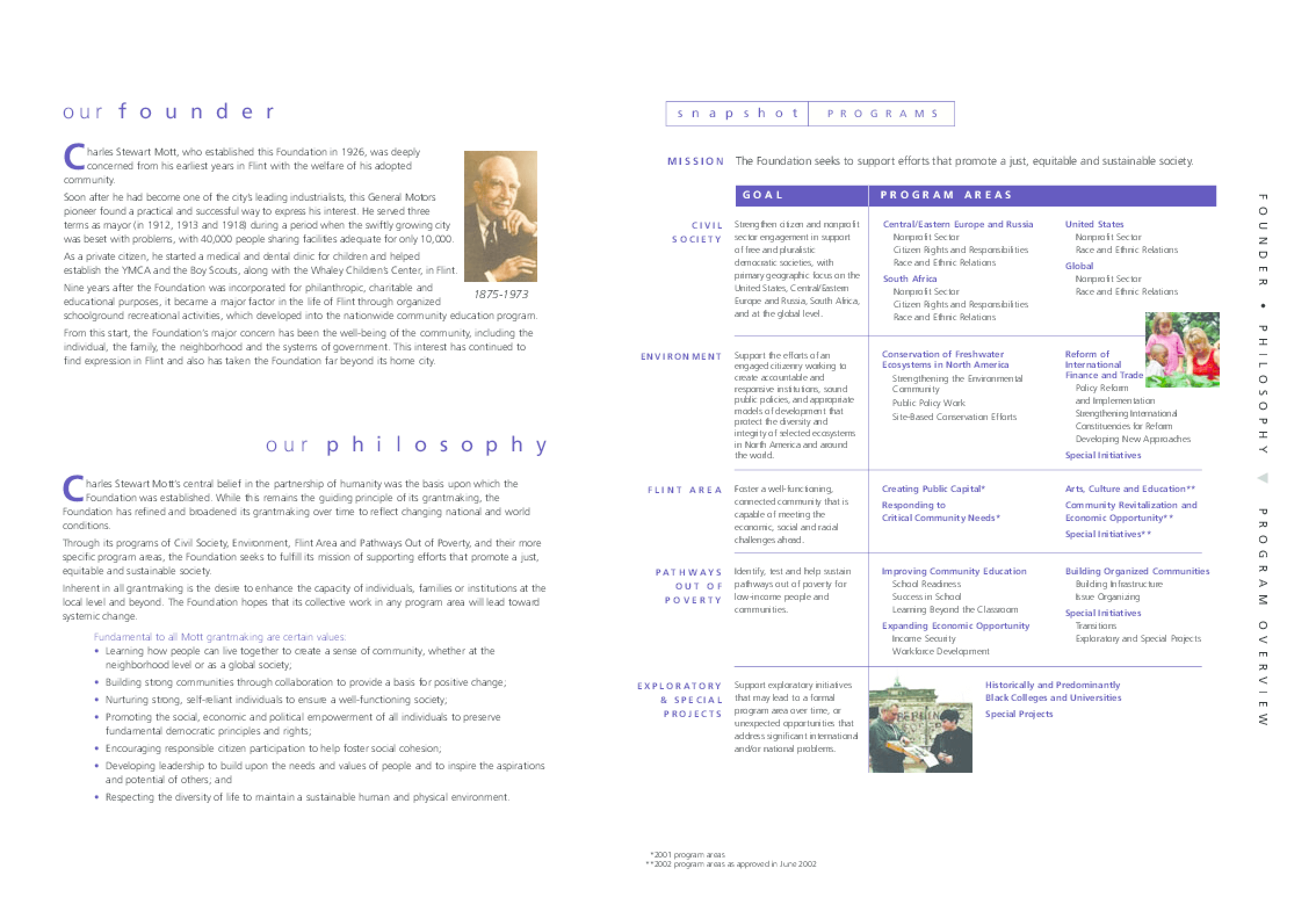 Charles Stewart Mott Foundation - 2001 Annual Report
