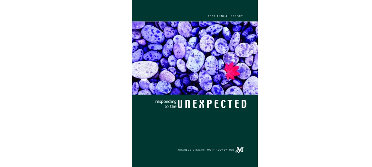 Charles Stewart Mott Foundation - 2003 Annual Report: Responding to the Unexpected
