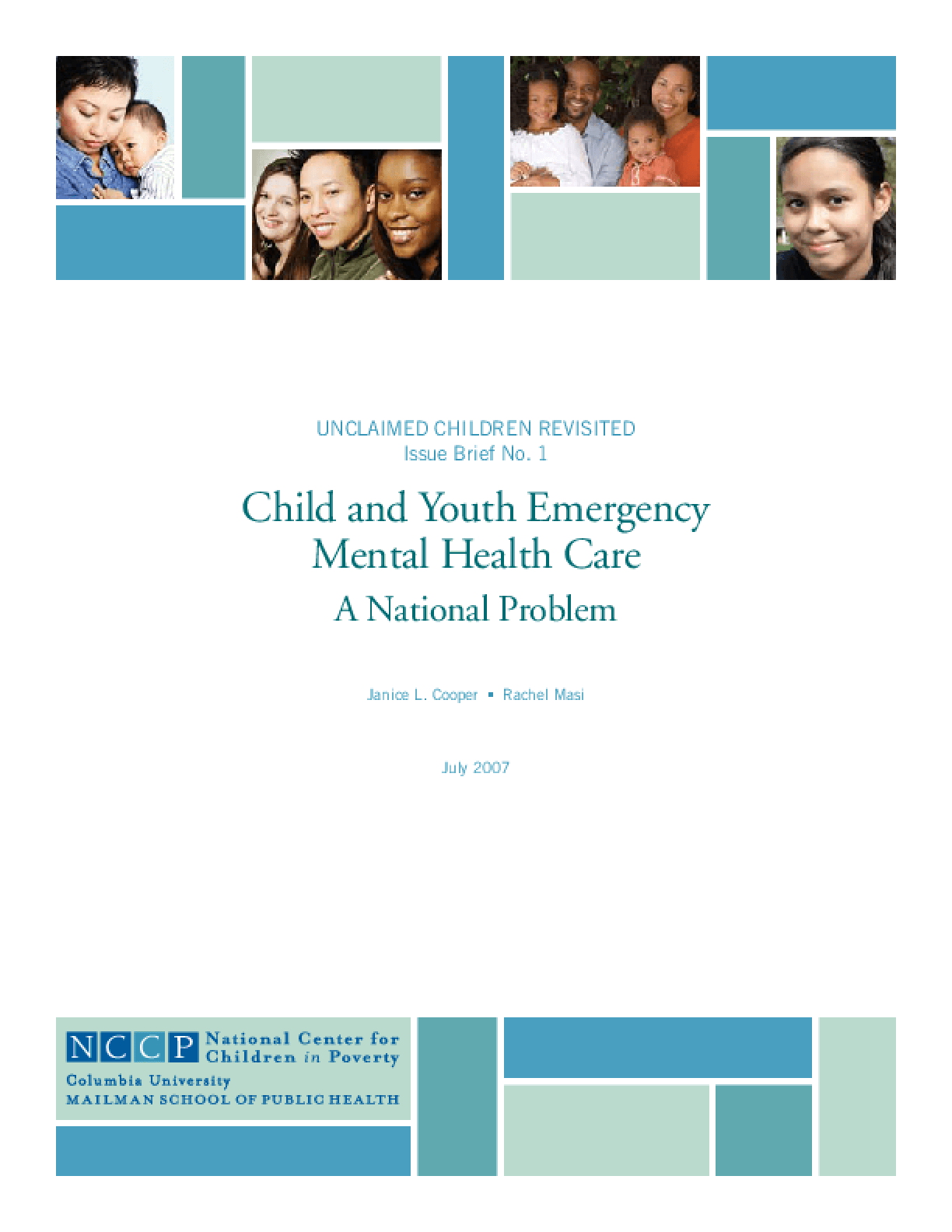Child and Youth Emergency Mental Health Care: A National Problem